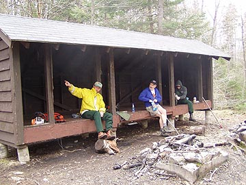 Hanging in Three Ponds Shelter